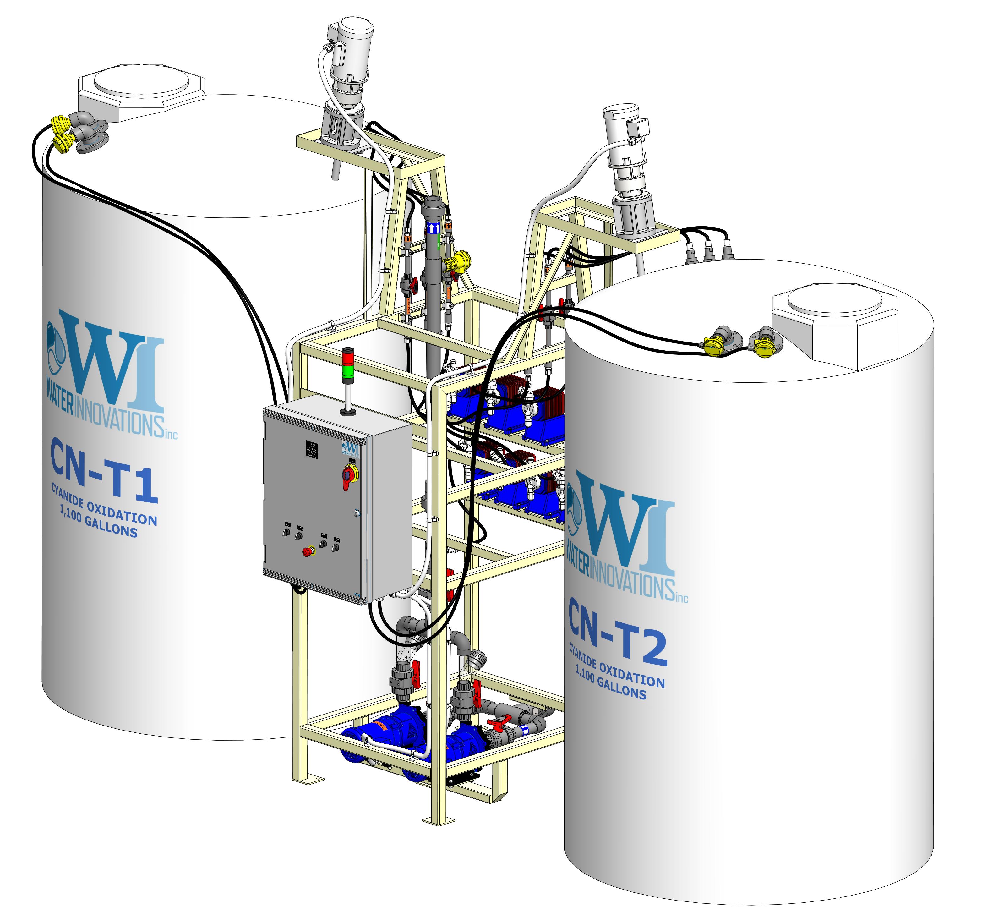 Cyanide Oxidation System Cyanide Destruct System Water