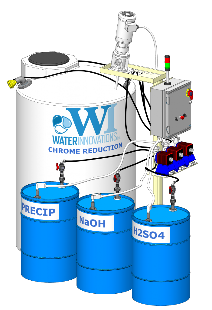 Hexavalent Chrome Reduction System Industrial Wastewater