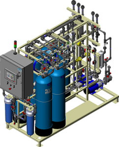 Complete Ion Exchange System_Topright Side_CIX1000S_3D