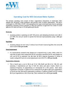WDI Operating Cost