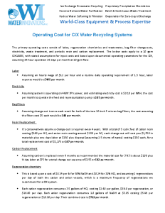 CIX Operating Cost