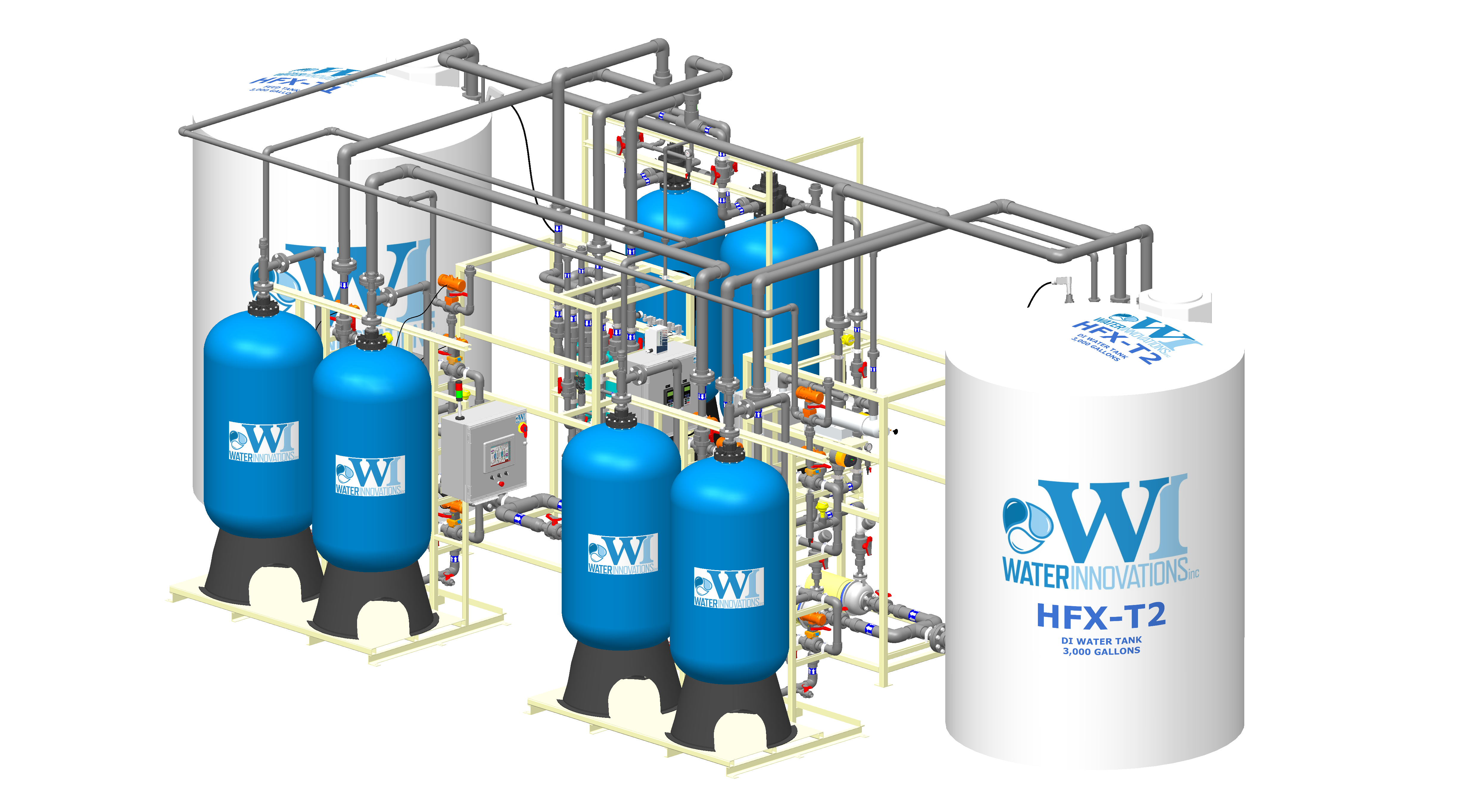 High Flow Ion Exchange System Ion Exchange Systems
